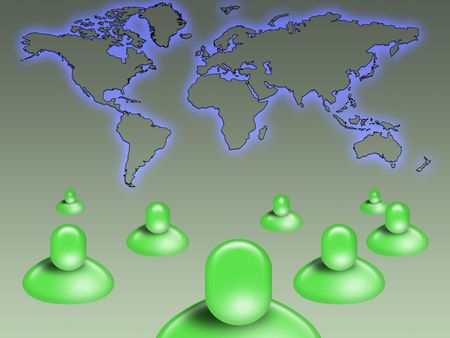 Global social network concept Stock Photo - 7037608