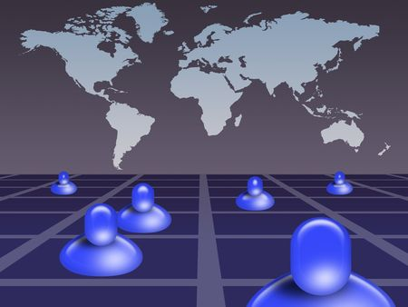 Global social network concept Stock Photo - 7037596