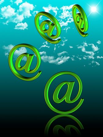 Transfer of letters by means of the Internet technologies