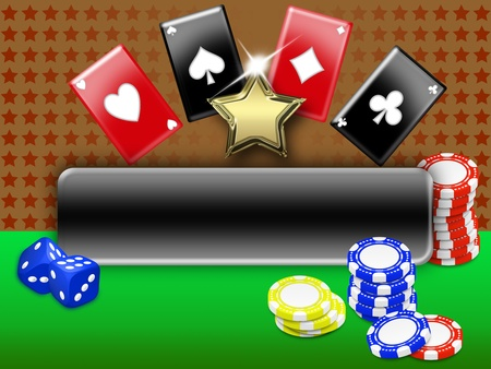 background with elements of gambling. free space for personalization Stock Photo - 8567360