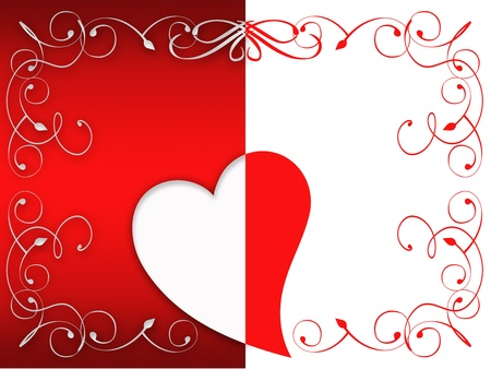 Valentine greeting card with hearts. free space for your content or dedications Stock Photo