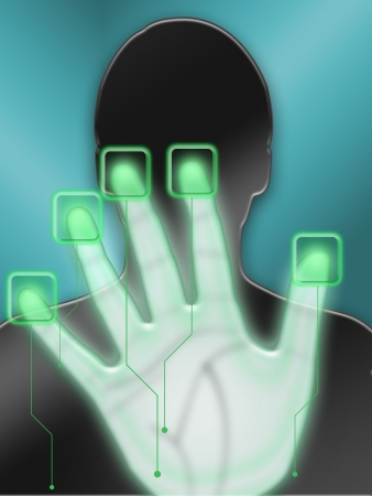 biometric hand scan to gain access photo