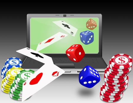 concept for online gambling, virtual casino Stock Photo