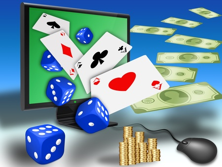 concept for online gambling, virtual casino photo