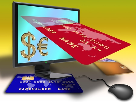 concept of online payment and virtual money
