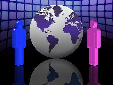 Concepto de redes y comunicaciones de negocios a nivel mundial Foto de archivo - 9556009