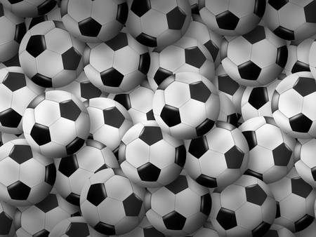 abstract Soccer background with soccer balls Stock Photo