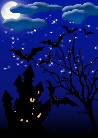 Halloween. invitation card for the party or background, with the elements of the halloween Stock Photo - 9875004