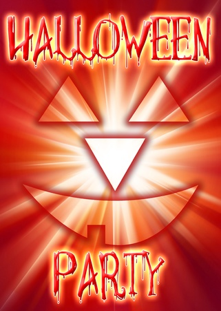 Halloween. invitation card for the party or background, with the elements of the halloween