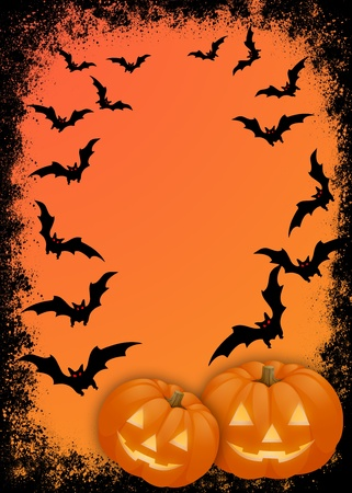 Halloween. invitation card for the party or background, with the elements of the halloween Stock Photo - 9875007