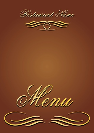 template menu restaurant. proportional  illustration Illustration