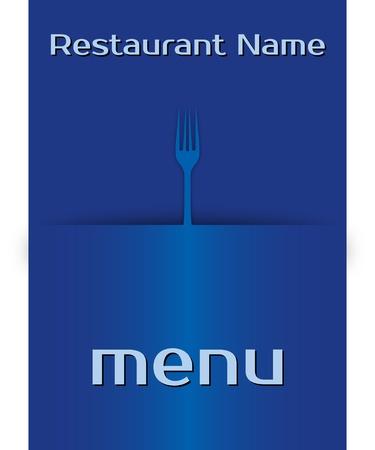 template menu restaurant. proportional  illustration Illustration