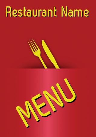 proportional: template menu restaurant. proportional  illustration Illustration