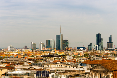 Milan City in Summer