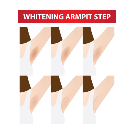 dark to white armpit step vector illustration Illustration