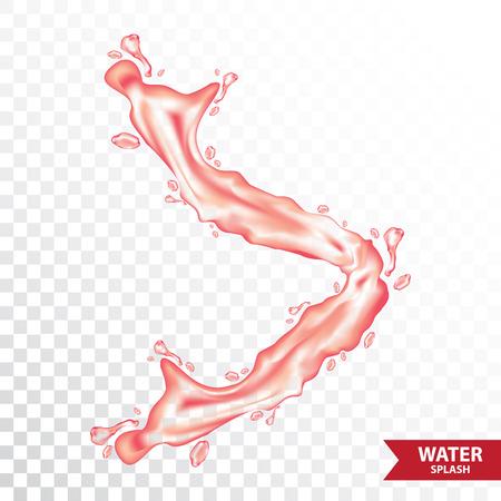 Red water , juice splash vector illustration