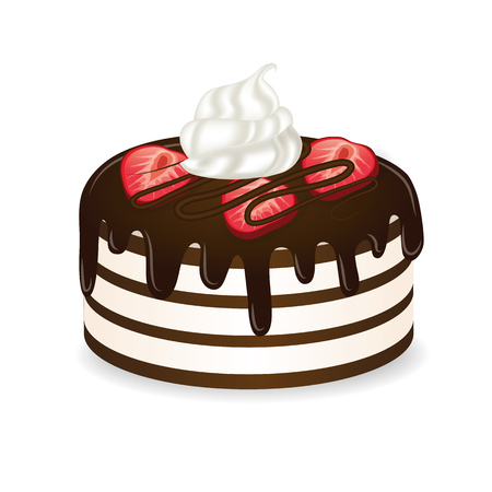 chocolate cake vector illustration Illustration