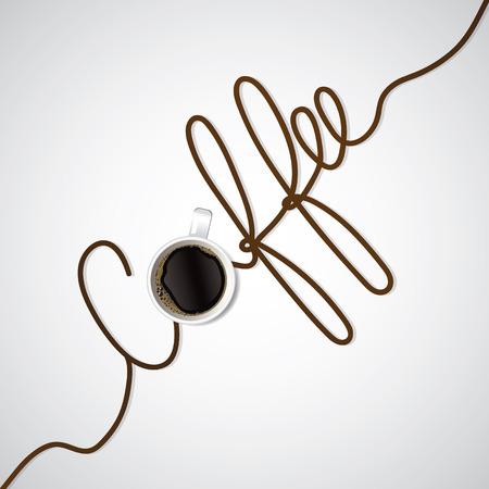 coffee text vector illustration