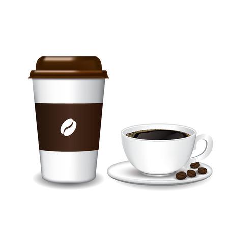 Coffee cup on white background. Фото со стока - 97050654