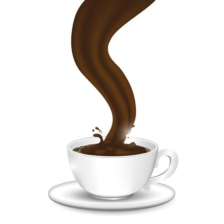 cup of coffee splash vector illustration