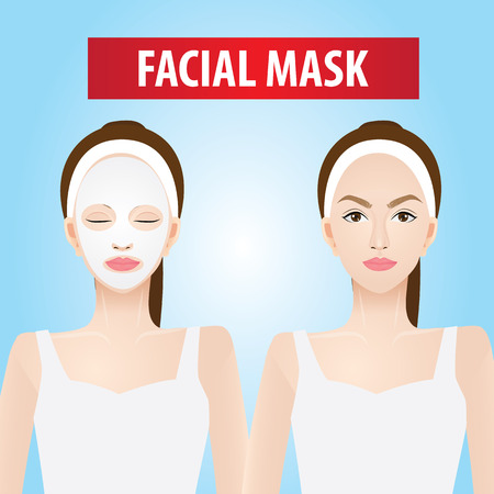 Facial mask for women vector illustration