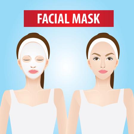 Facial mask for women vector illustration