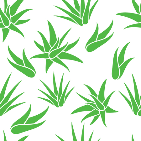 Aloe Vera seamless pattern background, vector illustration.