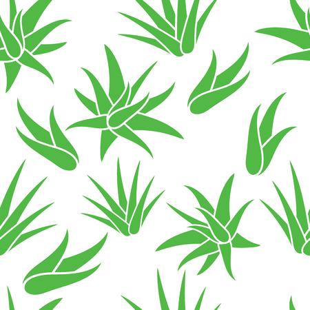 Aloe Vera seamless pattern background, vector illustration.