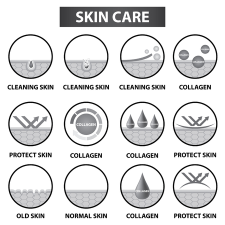 Skin care icons set vector illustration design.