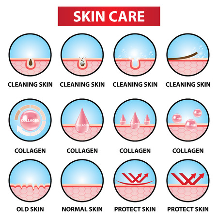 Skin care icons set vector illustration design.