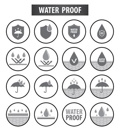Wasserdichte Ikonenvektorillustration Vektorgrafik