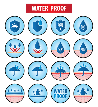 Waterproof icons set vector illustration design.