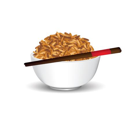 Rice bowl vector illustration Ilustracja