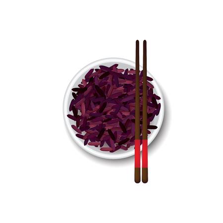 Rice bowl vector illustration Stock Illustratie