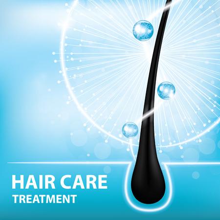 Cuidado del cabello, previene las puntas abiertas ilustración.
