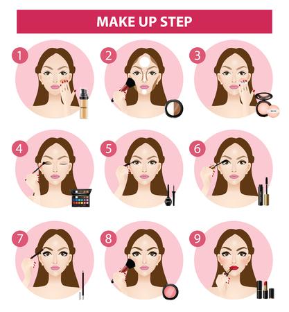 how to make up steps vector illustration Illustration