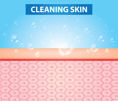 Cleaning skin vector illustration Çizim