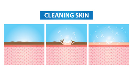 Cleaning skin vector illustration Illustration
