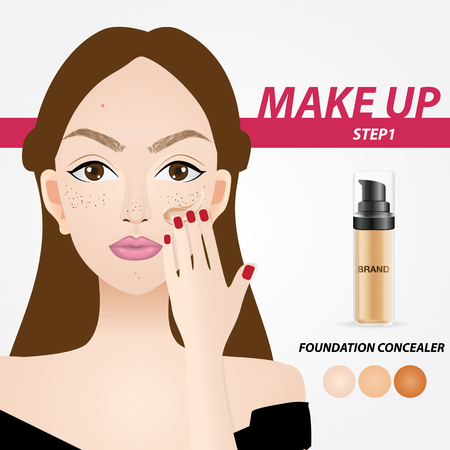 How to apply foundation vector illustration