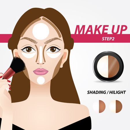 How to apply contour and highlights vector illustration Illustration