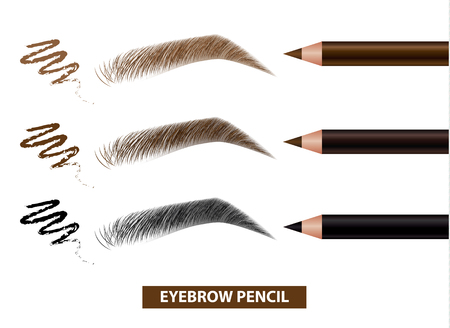 Eyebrow pencil color swatch vector illustration