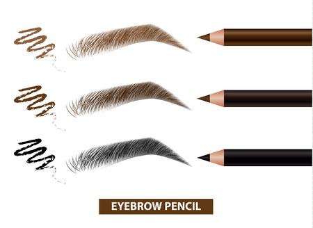 Eyebrow pencil color swatch vector illustration