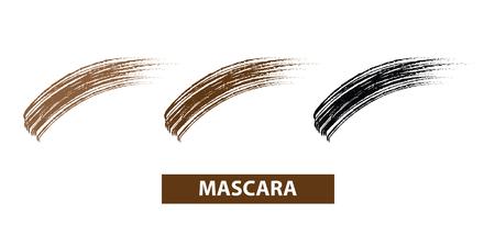 Mascara brush swatches vector illustration