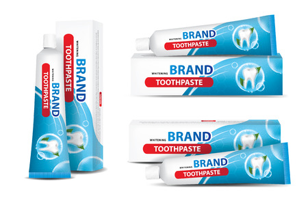 Tube of toothpaste vector illustration