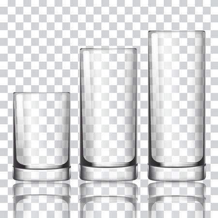 Set of glass on a transparent background vector illustration