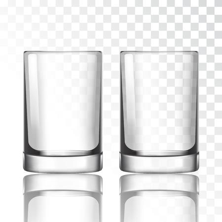 Short glass on a transparent background vector illustration Illustration
