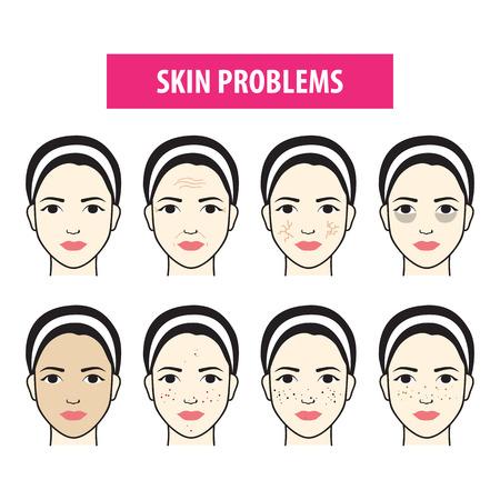 Problems skin icon woman vector illustration Illustration