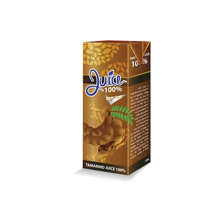 Tamarind juice box package vector illustration Stok Fotoğraf - 121629000