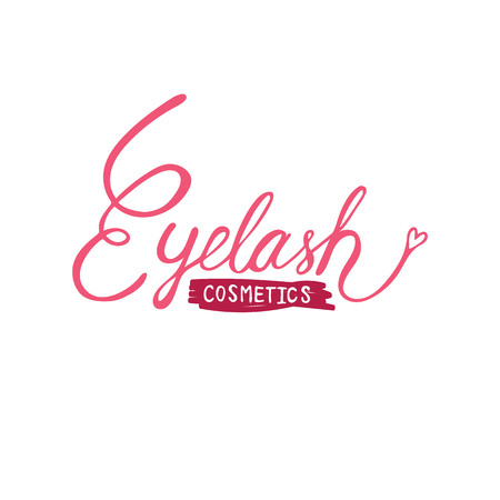 Eyelash logo vector illustration
