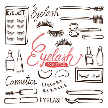 Eyelash hand drawn vector illustration Çizim